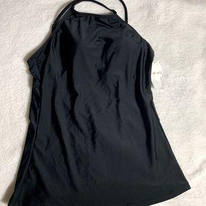 Hot Water Black Tankini Top swimwear L